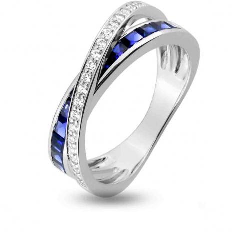 Bague Saphir en Or Blanc diamant Cienna -1.6019.S1