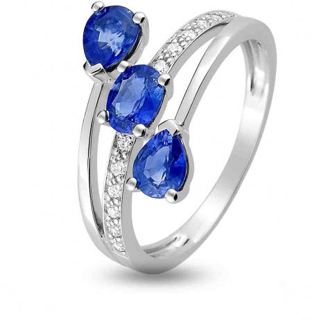 Bague Saphir en Or Blanc diamant Cienna -1.6124.S1