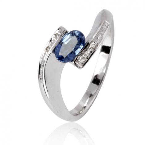 Bague saphir en Or Blanc diamant Constance -11693 SA
