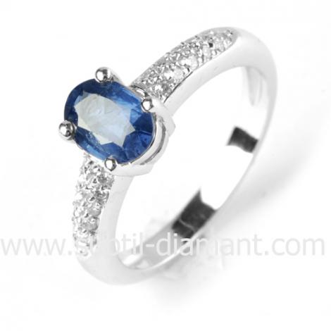 Bague saphir en Or Blanc diamant Délia -11625 SA