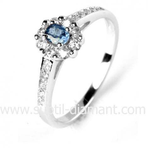 Bague saphir en Or Blanc diamant Destinée -12526 SA