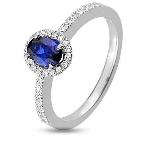 Bague Saphir en Or Blanc diamant Diana -1.6090.S1