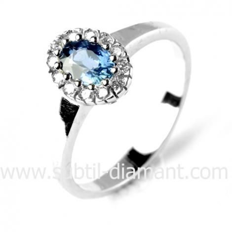 Bague saphir en Or Blanc diamant Éléannor -11696 SA