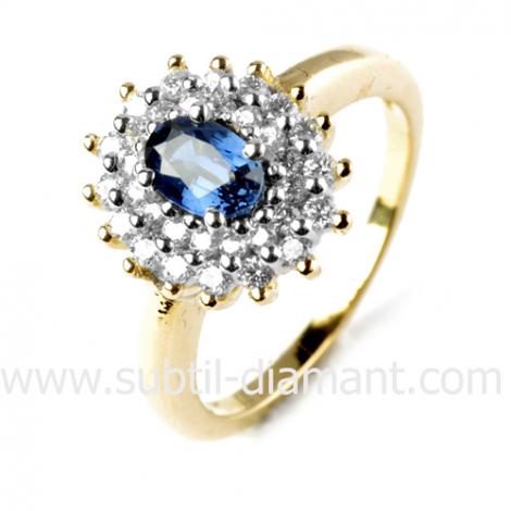 Bague saphir en Or Blanc diamant Hannah -11955 SA