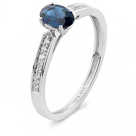 Bague Saphir en Or Blanc diamant Hawaiki -RA993FMNWAY14