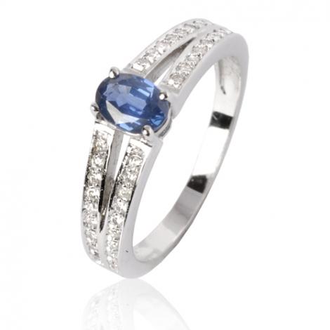 Bague saphir en Or Blanc diamant Infinie -12535 SA