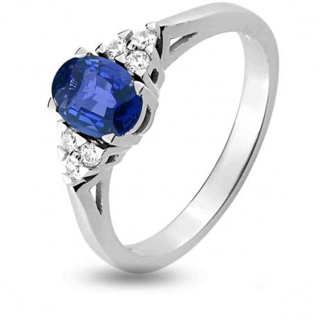 Bague Saphir en Or Blanc diamant Iriata -1.6101.S1