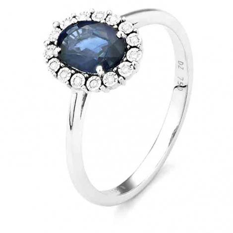 Bague Saphir en Or Blanc diamant Isis -RC654FMPWA814