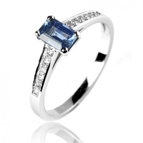 Bague saphir en Or Blanc diamant Julia -12595 SA