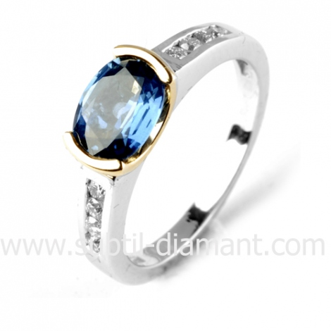 Bague saphir en Or Blanc diamant Kali -12540 SA