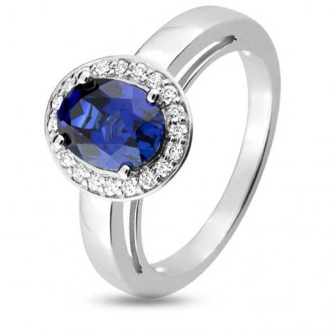 Bague Saphir en Or Blanc diamant Kaoru -1.6017.S1
