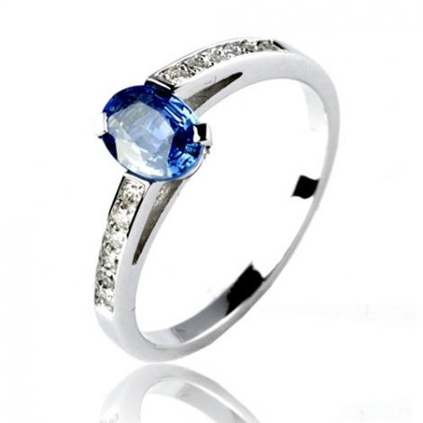 Bague saphir en Or Blanc diamant Kimberley -12513 SA