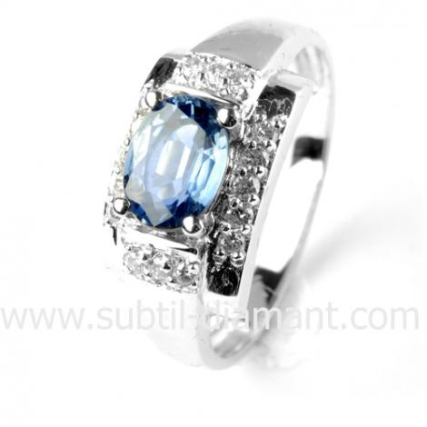 Bague saphir en Or Blanc diamant Kyana -12440 SA