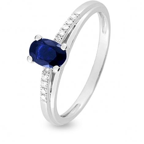 Bague Saphir en Or Blanc diamant Liliana -MN010GSB4
