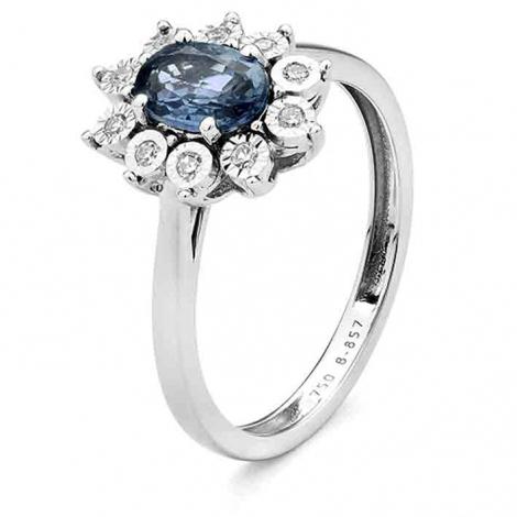 Bague Saphir en Or Blanc diamant Lisa -RB165FMNWA80L