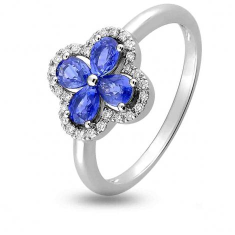 Bague Saphir en Or Blanc diamant Lyra -1.6029.S1