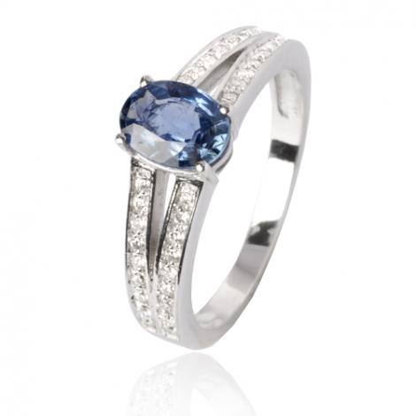 Bague saphir en Or Blanc diamant Maelle -12536 SA