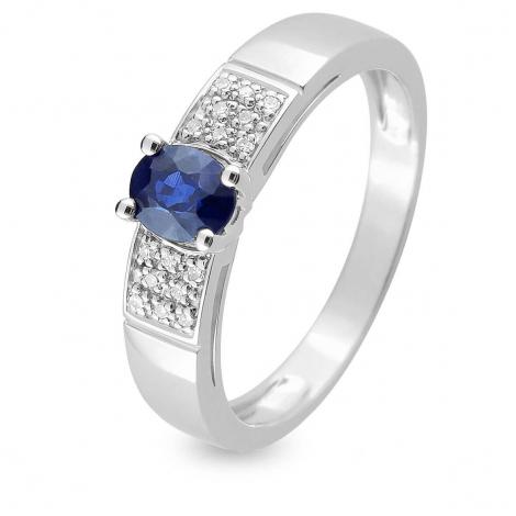 Bague Saphir en Or Blanc diamant Mahea -MZB14GSB4