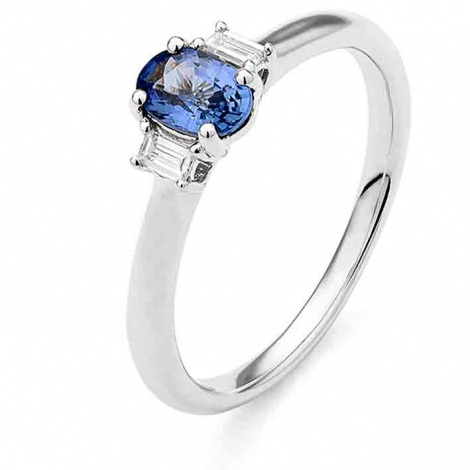 Bague Saphir en Or Blanc diamant Mahina -RD558FMPWA814