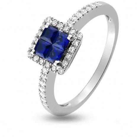 Bague Saphir en Or Blanc diamant Marjorie -1.6025.S1