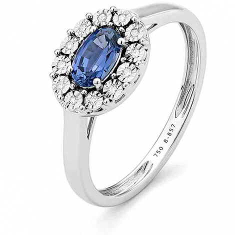 Bague Saphir en Or Blanc diamant Maryse -RD124FMNWA814