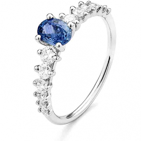 Bague Saphir en Or Blanc diamant Milena -RD062FMPWAY14