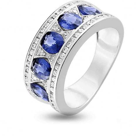 Bague Saphir en Or Blanc diamant Minea -MD018GSKB