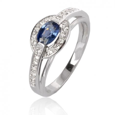 Bague saphir en Or Blanc diamant Naïa -12857 SA