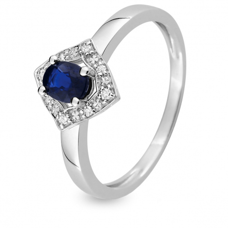 Bague Saphir en Or Blanc diamant Narah -MAB02GSB4
