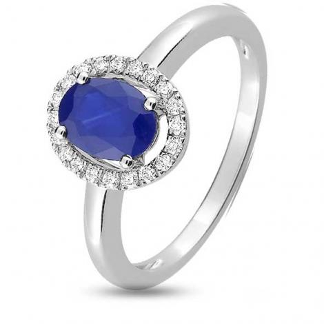Bague Saphir en Or Blanc diamant Paola -1.6095.S1