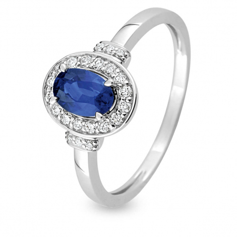 Bague Saphir en Or Blanc diamant Rosalyn -S18.02103
