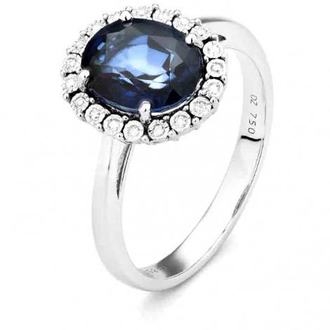 Bague Saphir en Or Blanc diamant Roxanne -RC653FMPWA814