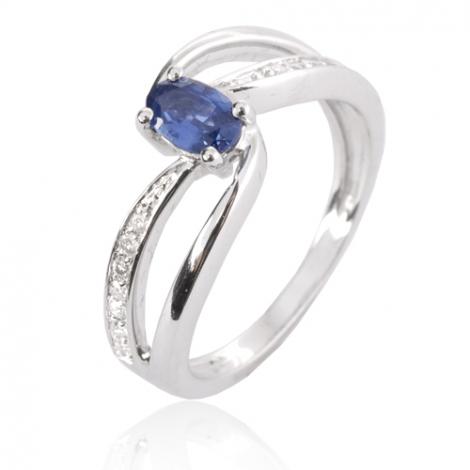 Bague saphir en Or Blanc diamant Susanna -12787 SA