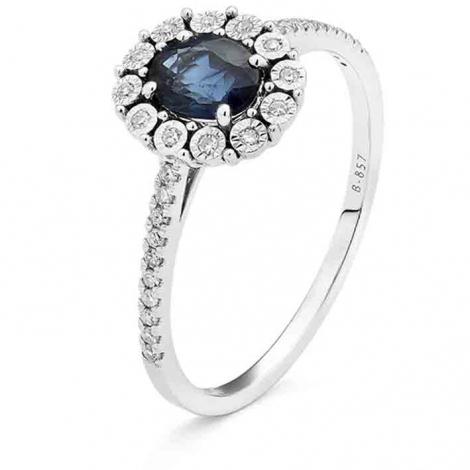 Bague Saphir en Or Blanc diamant Vaiarava -RA968FMNWA814