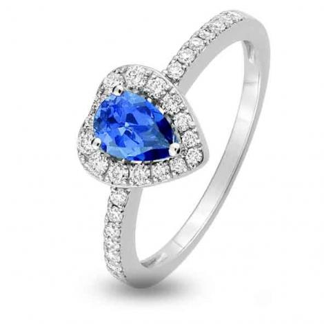 Bague Saphir en Or Blanc diamant Vaihinina -1.6028.S1