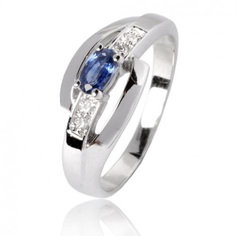 Bague saphir en Or Blanc diamant Valentina -12799 SA