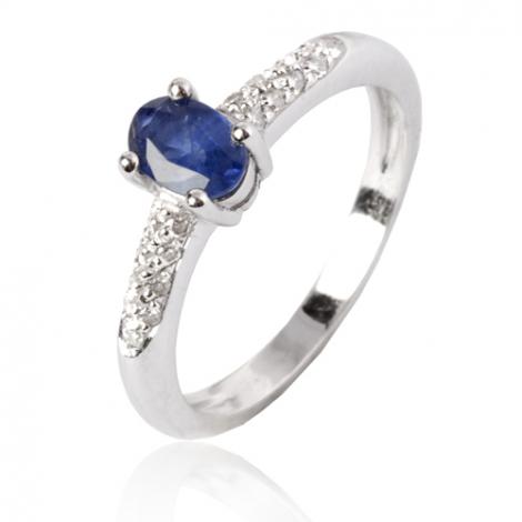 Bague saphir en Or Blanc diamant Veronica -11626 SA-02