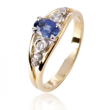 Bague saphir en Or Jaune diamant Katia -12579 SA
