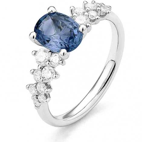 Bague Saphir en Or Rose diamant Anastasia -RC861FMPWAY14
