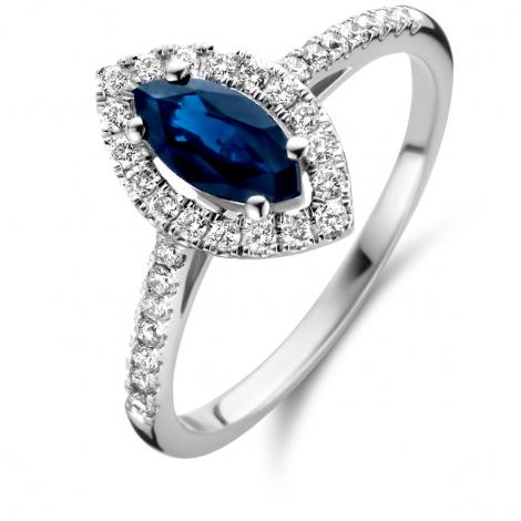 Bague Saphir et Diamants en Or Blanc diamant Kariane -91HR51SA