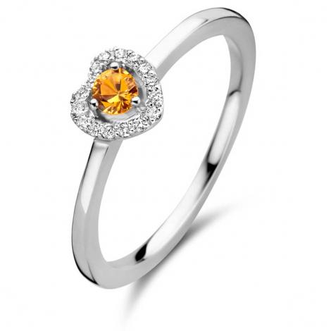 Bague saphir orange et diamants - One More 0.08 ct  - Salina 051743KA