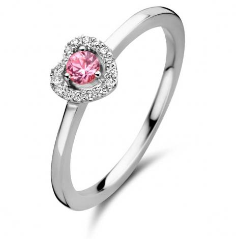 Bague saphir rose et diamants - One More 0.08 ct  - Salina 051743XA