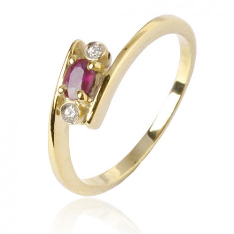 Bague saphir rubis diamant  - Myra - 10368 RU