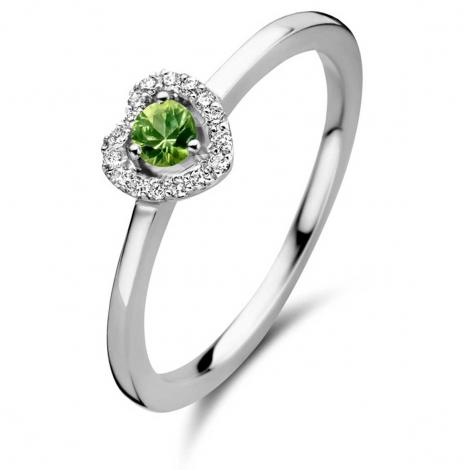 Bague saphir verts et diamants - One More 0.08 ct  - Salina 051743EA