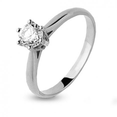 Bague solitaire diamant  0.15 ct Promesse - 4S1193
