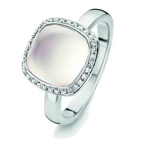 Bague Topaze Blanche et diamants  - One More 0.16 ct  - Amiata 053329NA
