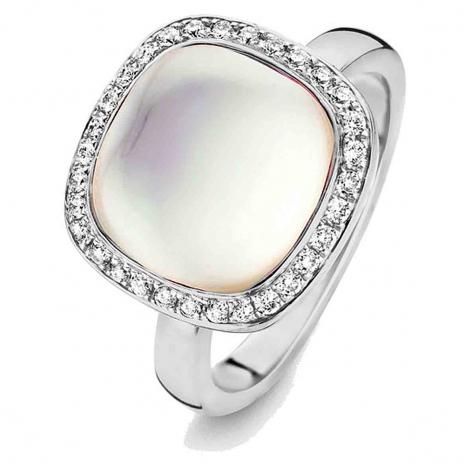 Bague Topaze Blanche sur nacre et diamants - One More - Amiata 0.28 ct  - Amiata 053653NA