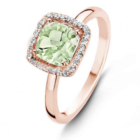 Bague Topaze Prasiolite et Diamants One More - Etna 0.1 ct  - Etna 050611YA