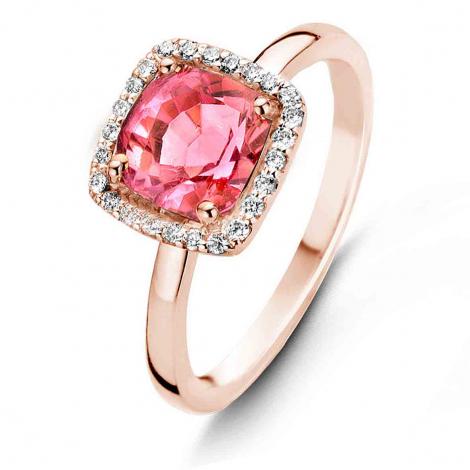 Bague Tourmaline Rose et Diamants One More 0.1 ct  - Etna 050611RA