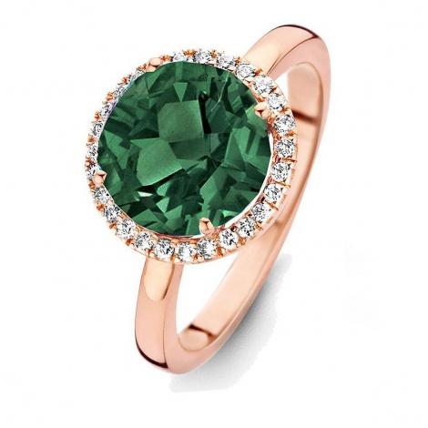 Bague Tourmaline Verte et diamants One More 0.16 ct  - Etna 053633QA